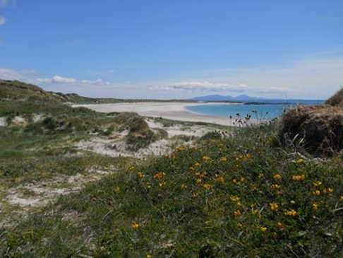 View of South Uist from the dunes at  Lionacleit